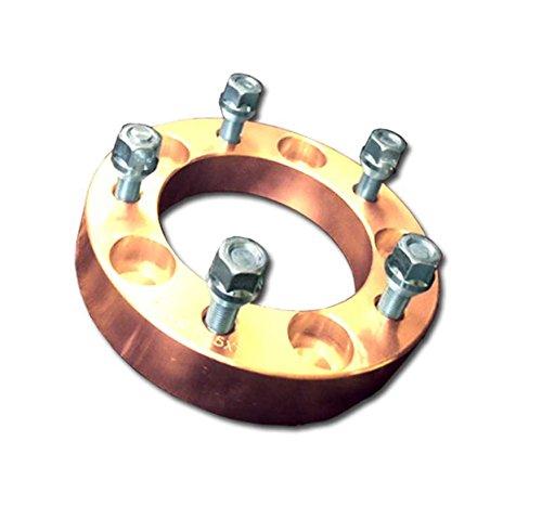 【5色自由】ワイドトレッドスペーサー5穴40mm2枚セットPCD139.7ジムニー (ゴールド) B01GRKY73Cゴールド