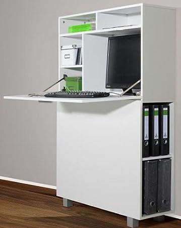 Sekretär Bv Vertrieb Weiss Schreibtisch Weiss 2392 Amazonde