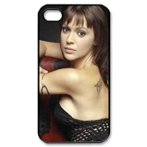 CTSLR Actor & Actress Series Protective Hard Case Cover for iPhone 4 & 4S - 1 Pack - Alyssa Milano - 4