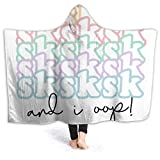 PPCCLPPO Sksk Sksksk and I OOP Beautiful Soft Velvet Hooded Blanket, Comfortable and Warm, Essential for Autumn and Winter