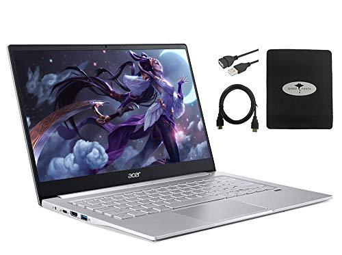 "2020 Newest Acer Swift 3 14"" FHD Thin & Light Laptop, AMD Ryzen 5 4500U(up to 4.0GHz,Beat i7-8750H), 8GB RAM, 1TB PCIe SSD, Backlit KB, Fingerprint Reader, HDMI USB-C, w/GM Accessories"