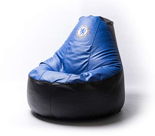 (Chelsea Football Comfortable Kids Adult Game Outdoor Indoor Lounge Chair Cover + Inner Bag (Without Beans))
