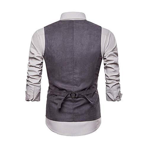 Gilet 1 Xl Xl Hiver Fit Fuweiencore Vest Décontracté 3 Taille Suit Convient Gilet Slim Costumes coloré Hommes It Business Mens Nouveau Automne Mariage De Aux wqngHf4Uq