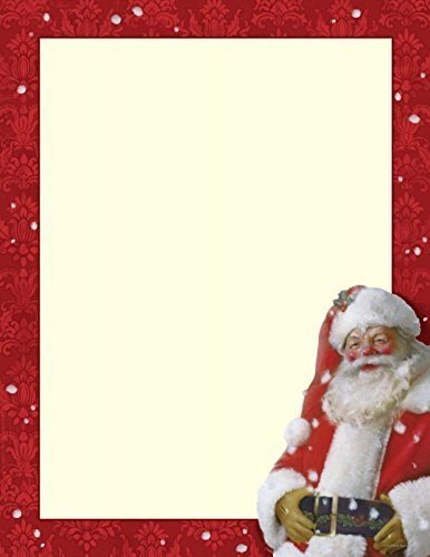 Christmas Stationery Jolly St. Nick Holiday Laser and Inkjet Printer Invitation (Christmas Stationery)