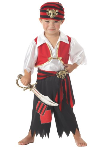 Ahoy Matey Pirate Costume (Toddler Small (2T)) Size:
