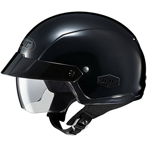 HJC Solid IS-Cruiser Half (1/2) Shell Motorcycle Helmet - Black/X-Large ()