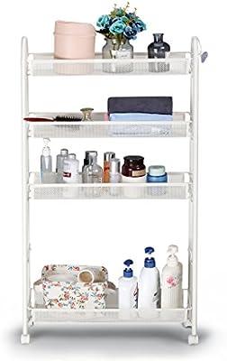 4 Tiers Slim Slide Out Storage Rack Shelf Cart Trolley Organizer Wheels Kitchen