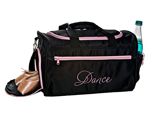 Hand Embroidered Shoe Bag - Horizon Dance 6626 Emmie Embroidered Dance Gear Duffel Bag - Pink