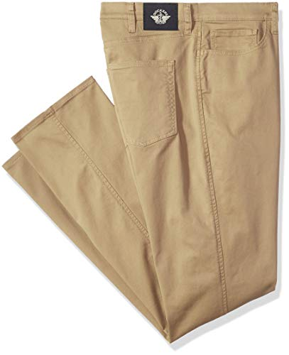 Dockers Men's Big and Tall Classic Fit Jean Cut Pants, New British Khaki, 44 29