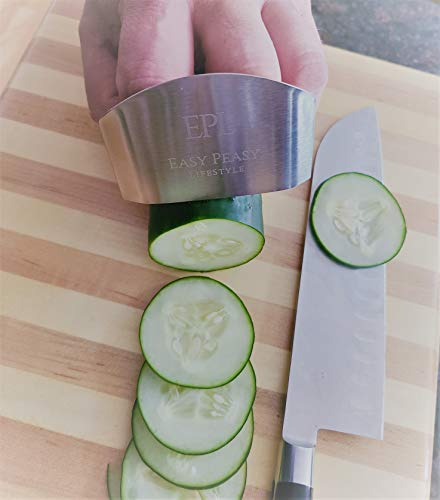 EPL-Chop-Shield-Stainless-Steel-Finger-Guard-Upgraded-Finger-Protector-For-Chopping-Fingerguard-Kitchen-Knife-Accessories-For-Cutting-Chop-Like-a-Chef-Great-Kitchen-Tool-2-pack