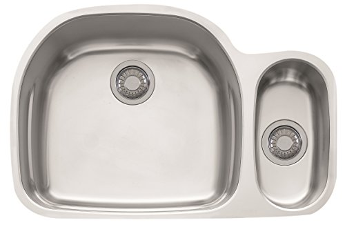"Prestige 31 1/8"" x 20 1/2"" x 9 1/16"" 18 Gauge Undermount Dual Bowl Stainless Steel Kitchen Sink - Franke PRX160"