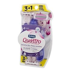 Schick Quattro For Women 3+1