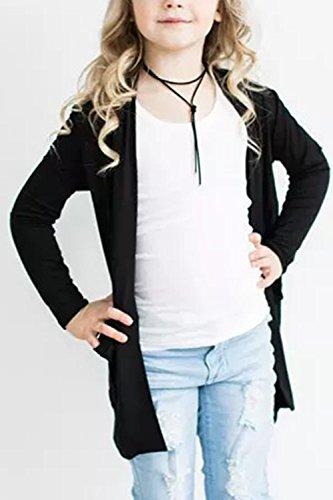 Geckatte Toddler Girls Boyfriend Cardigan Open Front Long Sleeve Knit Sweater with Pockets by Geckatte (Image #1)