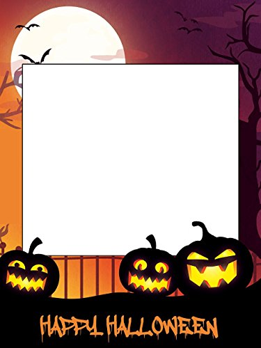 Large custom Halloween photo booth frame- Sizes 36x24, 48x36; Halloween Party, Halloween Photo props, Pumpkins, Happy Halloween, Halloween frames (This Is Halloween Pics)