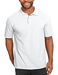 Men's Short Sleeve Cotton Casual Fit Polo Shirt with Solid Color
