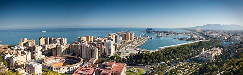Gifts Delight LAMINATED 77x24 inches POSTER: Sea Sky Port Summer Harbour Spain City Malaga by Gifts Delight