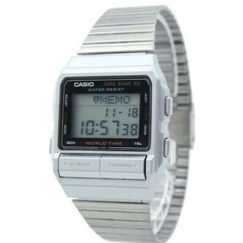 Casio Men's Digital Data Bank Stainless Watch DB520A-1