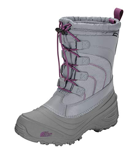 The North Face Alpenglow IV Boot, Frost Grey/Wood Violet, 10 M US Boys