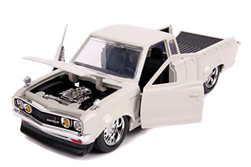 Datsun Pickup Truck Beige JDM Tuners 1/24 Diecast Model Car by Jada 30444