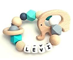 Baby Teething Ring | Personalized with N...