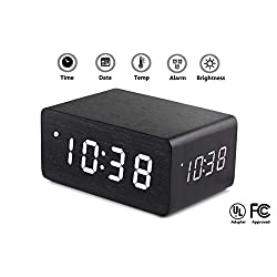Triple Display Digital Alarm Clock Large White LED Display - Dual USB Charging Ports, Dimmable, Multiple Loud Alarms, Shows Date & Temperature Battery Backup - Sleek Modern Design Great Gift!