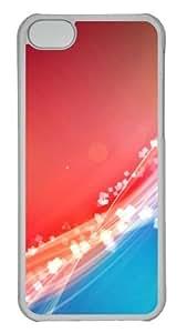 Customized Case Dazzling 1 PC Transparent for Apple iPhone 5C