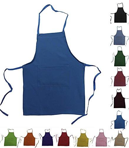 CHEFSKIN Set of 5 Aprons Wholesale LOT Lightweight Live Colors (MED (fits 8-12))