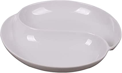 Large Plastic White Paint Palette Mixing Tray Kids Art Painting 6 Dipping Wells