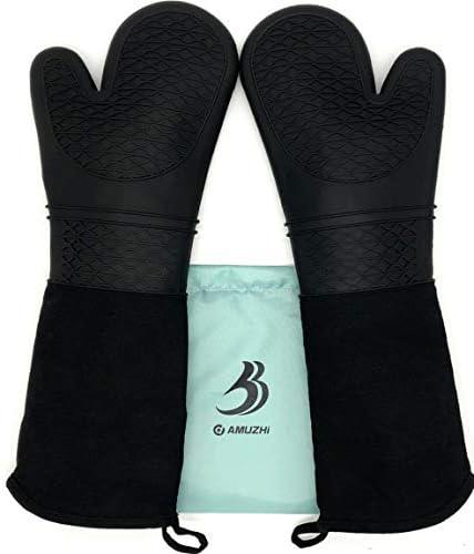 DAMUZHI Silicone Gloves Resistant Oven