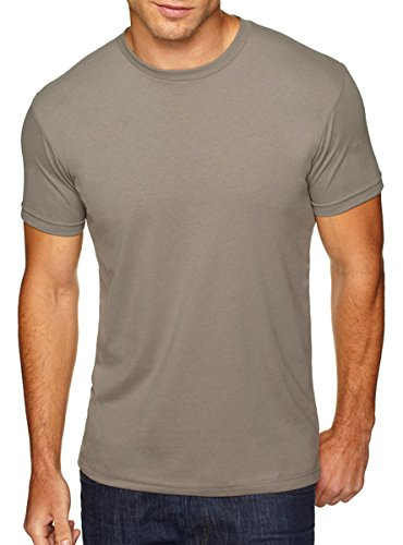 Next Level Men's Premium Sueded Crewneck T-Shirt, Large, WarMedium Grey from Next Level