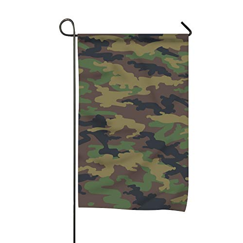 "Lucy Curme Welcome Woodland Hunting Yard Flag 12"""" x 18"""" Do"