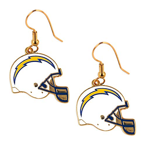 MISC NFL San Diego Chargers Earring Set Helmet Shaped Sports Football Charm Gift ()