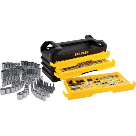 Stanley Full Polish 235pc Mechanics tool Set with 3-Drawer Chest
