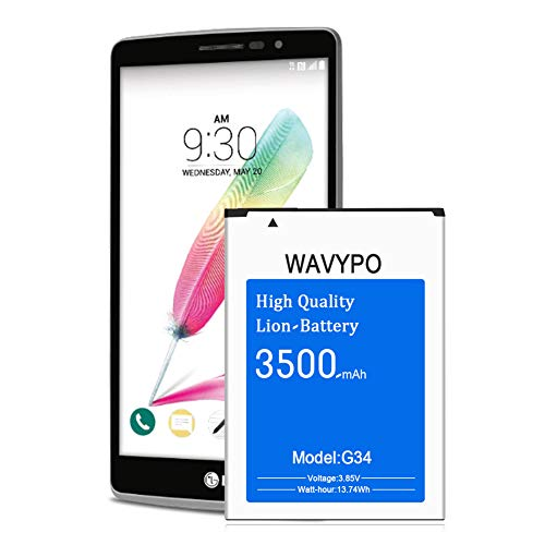 Wavypo LG G4 Battery, 3500mAh (Upgraded) G4 BL-51YF Replacement Battery for LG G4 H810 H811 H812 H815 US991 LS991 VS986, G4 G Stylo H631 LS770 Spare Battery [24 Month Warranty]