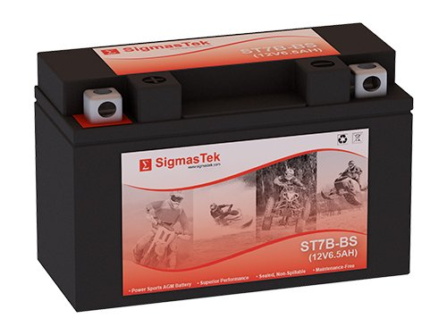 12 Volt 6.5 Amp Hour Sealed Lead Acid Battery Replacement with NB Terminals by SigmasTek ST7B-BS