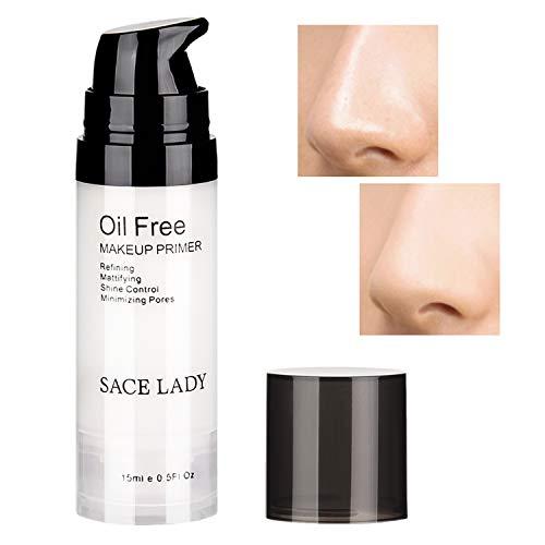 SACE LADY Oil Free Foundation Primer Smooth Pore Minimizing Refining Prolong Face Makeup Primer,15ml/0.50Fl Oz, Transparent