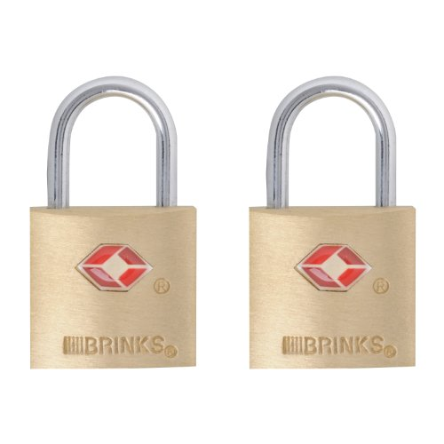 - Brinks 161-20271 TSA Approved 22MM  Luggage Lock Solid Brass, 2-Pack