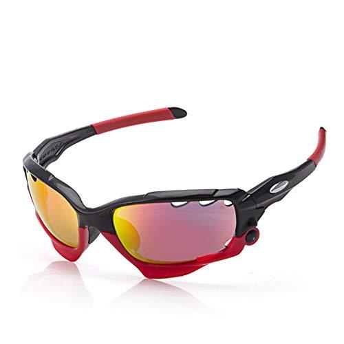 Epinki Hombre TPU+PC Gafas Deportivas Gafas de Protección Gafas de Bicicleta 3 Lentes Polvo Gafas de Sol para Motocicleta...