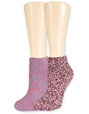 Dr. Scholl's Women's 2 Pack Soothing Spa Low Cut Lavender + Vitamin E Socks with Silicone Treads
