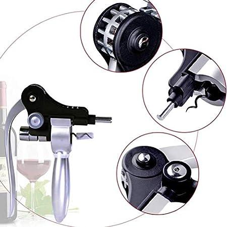 LHQ-HQ Sacacorchos abrelatas del vino abrelatas del vino Sacacorchos herramienta creativa corcho de la botella de vino del abrelatas de casquillo de cocina herramientas de la barra regalos de la aleac