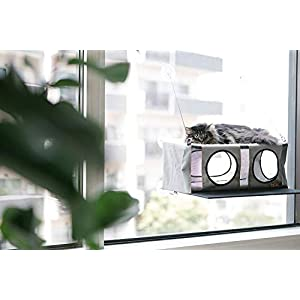 K&H Pet Products EZ Mount Penthouse Gray/Black 19″ x 23″ x 9.5″ Kitty Sill