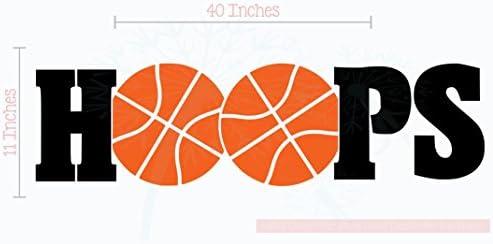 Amazon.com: Aros Baloncesto calcomanías de letras de vinilo ...