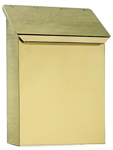 Brass Mailbox - Vertical Mailbox in Smooth Polished Brass Finish