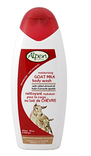 Alpen Milk - Alpen Secrets Goat Milk and Almond Oil Body Wash, 17-Ounces Bottles (Pack of 6)