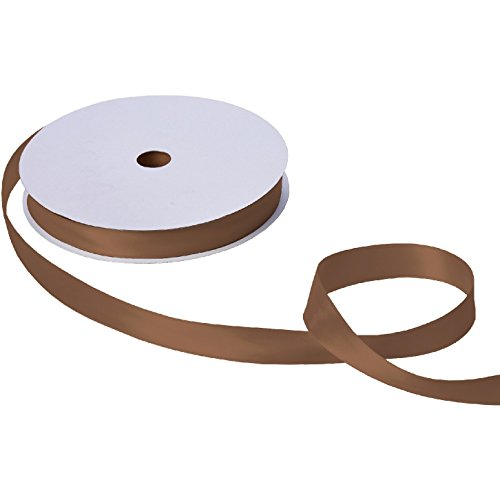 Jillson & Roberts Double-Faced Satin Ribbon, 1'' Wide x 100 Yards, Brown by Jillson Roberts