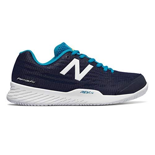 New Balance Women's 896v2 Hard Court Tennis Shoe, Navy, 9.5 B US