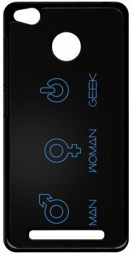 Carcasa Xiaomi Redmi 3S símbolo Geek hombre mujer: Amazon.es ...