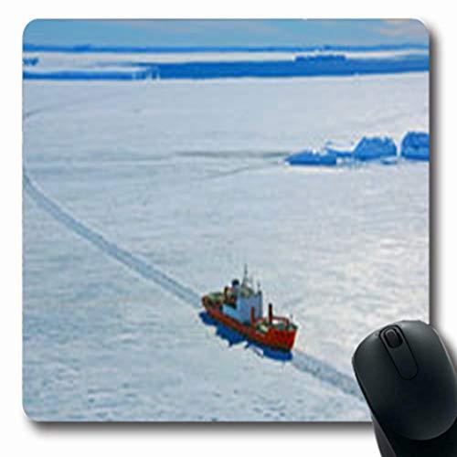Pandarllin Mousepads Antarctic Progress Station Antarctica On January 20 Nature Arctic Europe Oblong Shape 7.9 x 9.5 Inches Oblong Gaming Mouse Pad Non-Slip Rubber ()