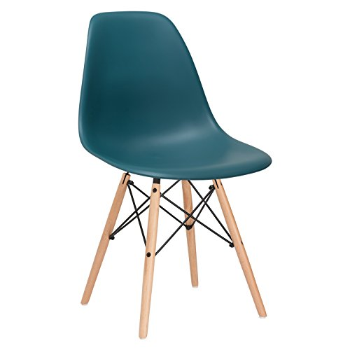 Poly and Bark Vortex Side Chair, Teal, used for sale  Delivered anywhere in USA