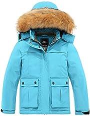 ZSHOW Girls' Waterproof Ski Jacket Warm Fleece Lined Thick Padded Winter Coat